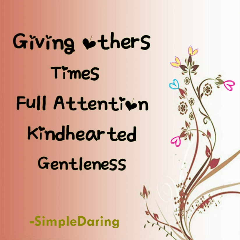 giving others