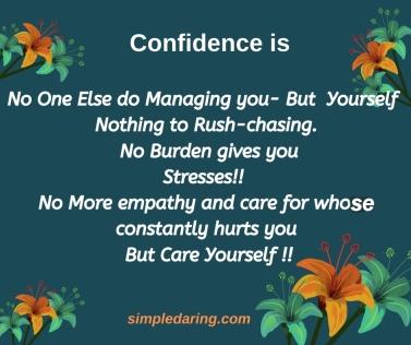 confidenceis